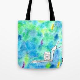 Rain Makes A Rainbow no.0 - watercolor illustration green blue Tote Bag