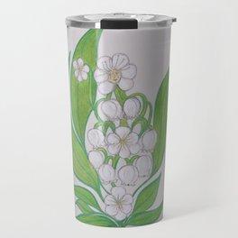 Flor De Fantasias Lily Of The Valley Travel Mug