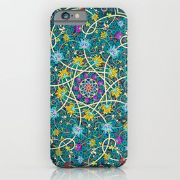 Turquoise swirl iPhone Case