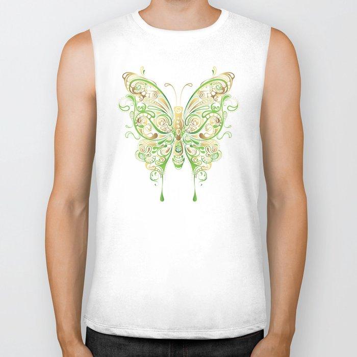 Butterfly Ornamental Biker Tank