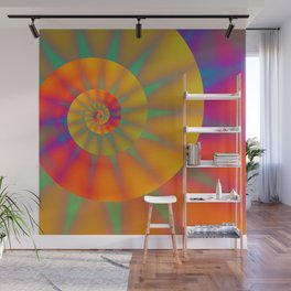 The Golden Sprial with Spikes Wall Mural