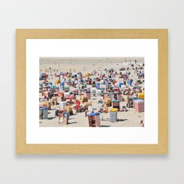 Beachgoers at the Island of Borkum, Germany Framed Art Print