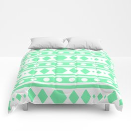 Mint Tribal Pattern Comforters