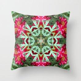 Peony Rose Florii Throw Pillow