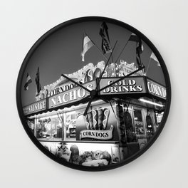 Fair Food B&W Wall Clock