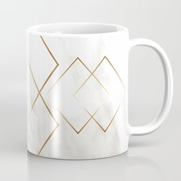 White Marble Gold Diamond Coffee Mug