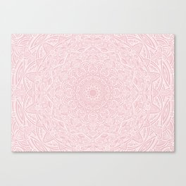 Most Detailed Mandala! Rose Gold Pink Color Intricate Detail Ethnic Mandalas Zentangle Maze Pattern Canvas Print