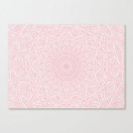 Most Detailed Mandala! Rose Gold Pink Color Intricate Detail Ethnic Mandalas Zentangle Maze Pattern Canvas Print