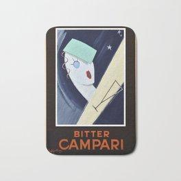 Vintage Bitter Cordial Campari Advertising Poster No. 3 Bath Mat