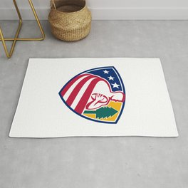 American Rugby Union Player Badge Rug