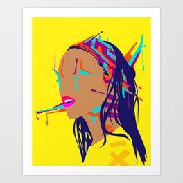 Cyberpunk Girl #3 Art Print