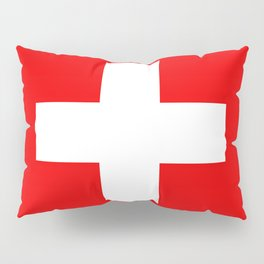 Flag of Switzerland - Authentic (High Quality Image) Pillow Sham