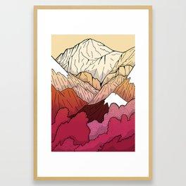 Autumnal Mountains Framed Art Print