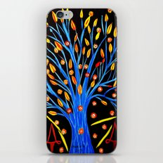 Blue tree/abstract iPhone & iPod Skin