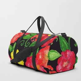 Vintage Wallpaper Black Duffle Bag