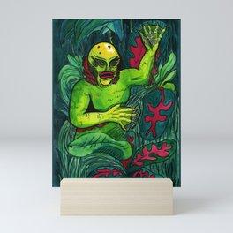 Swamp Monster Mini Art Print