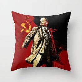 Vladimir Lenin Throw Pillow