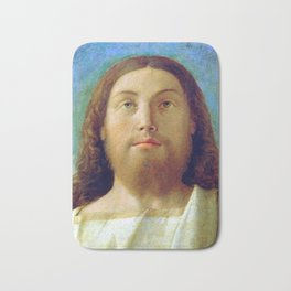 "Giovanni Bellini ""Head of the Redeemer"" Bath Mat"