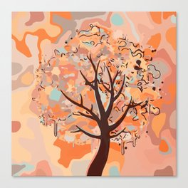 Multicolor Abstract Tree Canvas Print