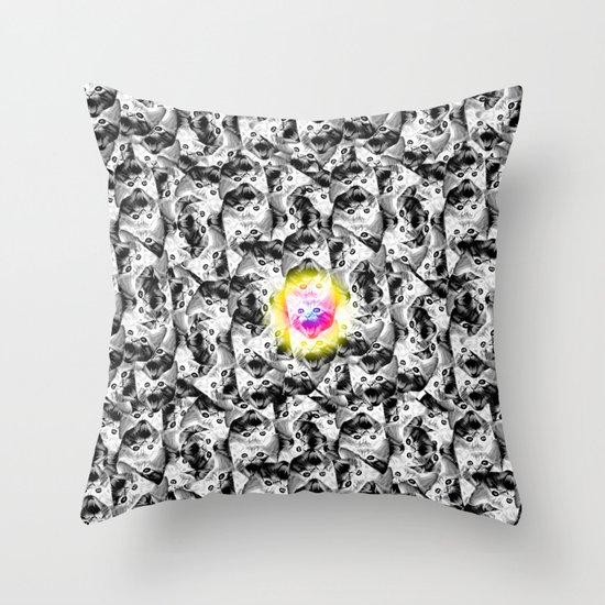 M. CMYKat. Escher Throw Pillow