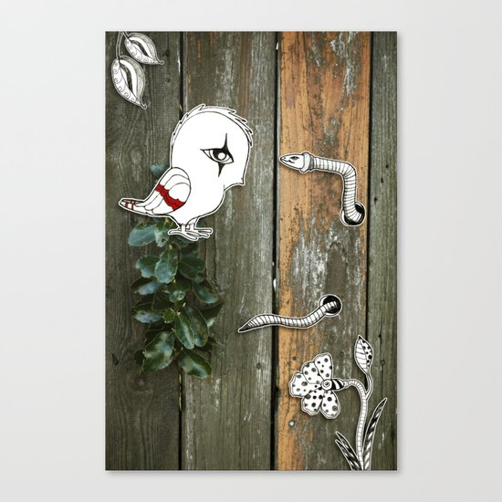 Theo and the Worm Canvas Print