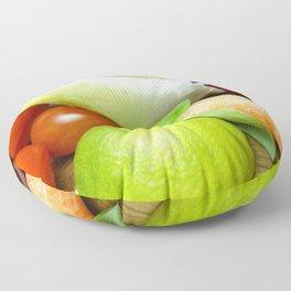 Fresh Vegetables - Restaurant or Kitchen Decor Floor Pillow