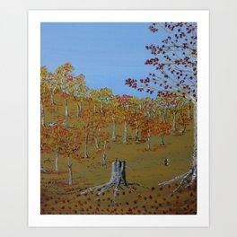 Autumn Walk Art Print