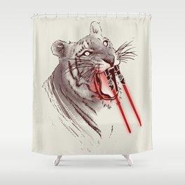 Light Saber Tooth Tiger Shower Curtain