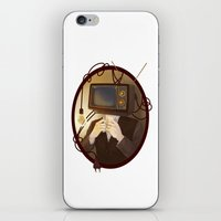 tv iPhone & iPod Skins featuring TELEVISION by FISHNONES