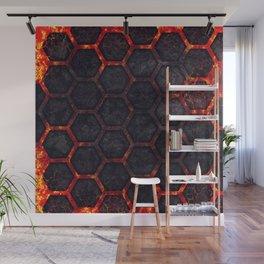 Lava Hexagons Wall Mural