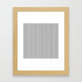Black Pinstripe On White Pattern Framed Art Print