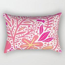 Garden – Pink Palette Rectangular Pillow