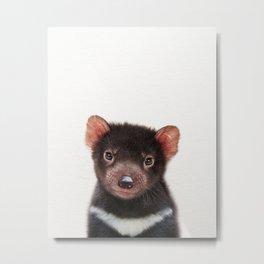 Baby Tasmanian Devil, Baby Animals Art Print By Synplus Metal Print