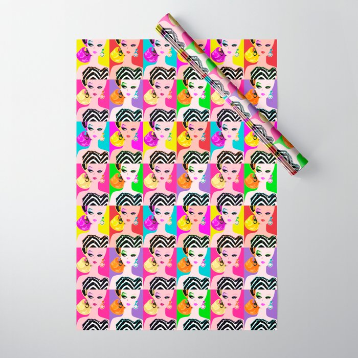 Pop Art Barbie Wrapping Paper