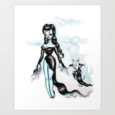 Vampira with Nosferachi Art Print