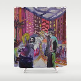 A FIGHT  Shower Curtain