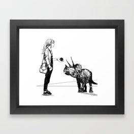 Let's Play Fetch Framed Art Print