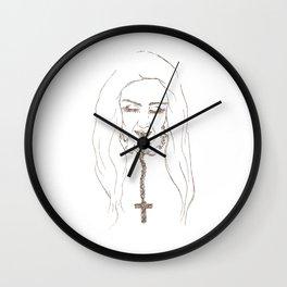 Santa de la Perla Wall Clock