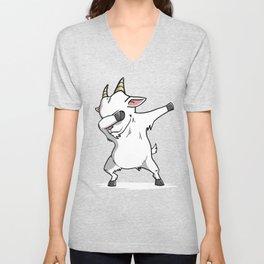 Funny Goat Dabbing Unisex V-Neck