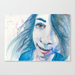 And Then She Smiled Canvas Print