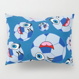 SoccerComis Blue Pillow Sham