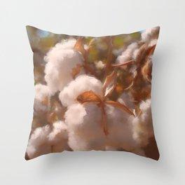 Cotton Harvest - No. 1 Throw Pillow