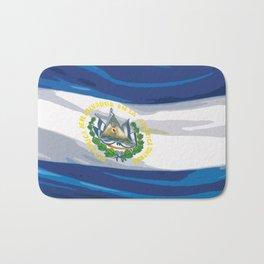 El Salvador Fancy Flag Bath Mat