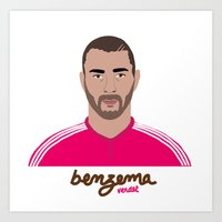 real madrid Art Prints featuring KARIM BENZEMA - REAL MADRID by THE CHAMPION'S LEAGUE'S CHAMPIONS