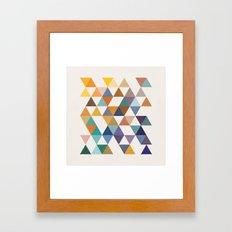 Mid century geometric design Framed Art Print