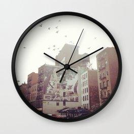 Birds Over Soho Wall Clock