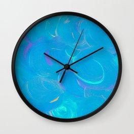 Peacock Swirls Wall Clock