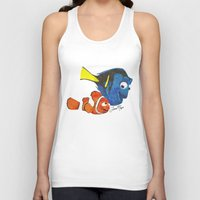 finding nemo Tank Tops featuring Finding Nemo by Larissa