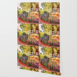 "Claude Monet ""Water lily pond, water irises"" Wallpaper"