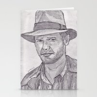 indiana jones Stationery Cards featuring Indiana by jamestomgray